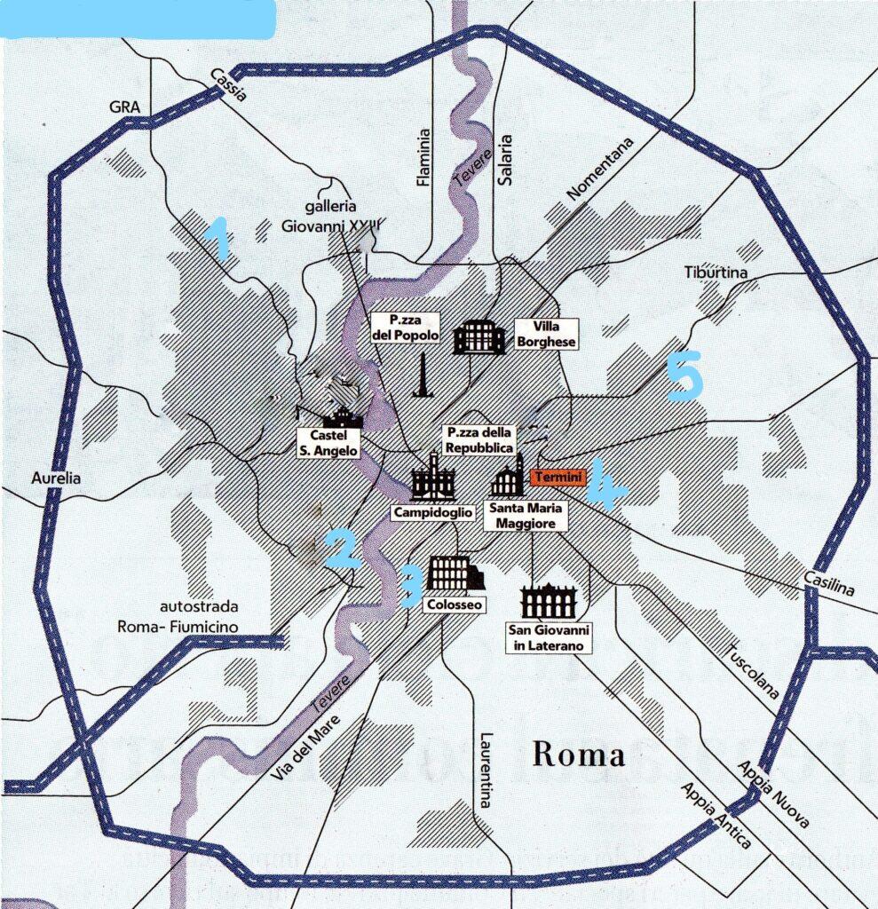 Cartina Roma Ciampino.Stazioni E Ferrovie A Roma Mappa Interattiva Ti Con Zero